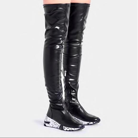 Bad Girl Thigh High Sneaker Boot   Poshmark